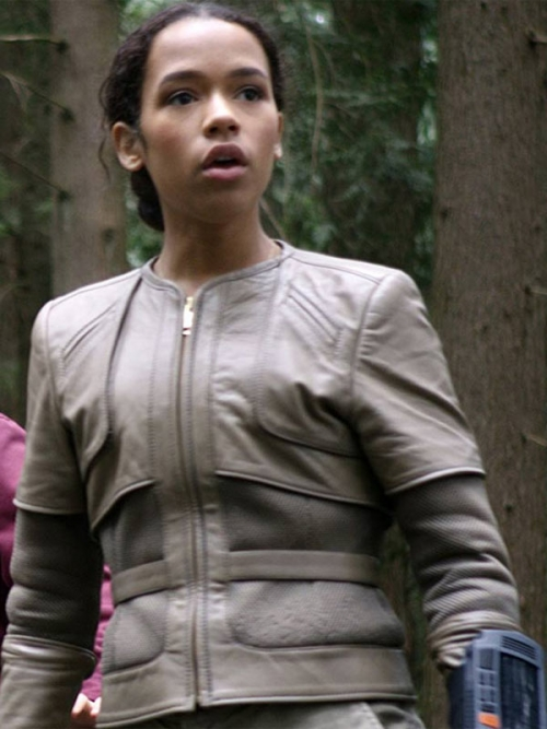 LOST IN SPACE TAYLOR RUSSELL GREY JACKET