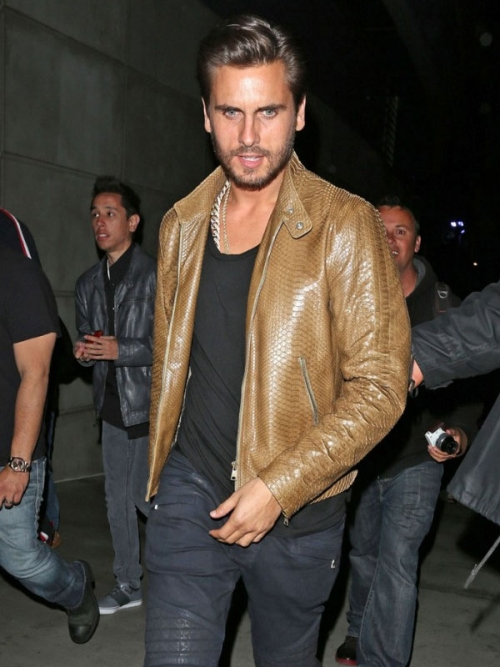 Scott Disick Moto Leather Jacket