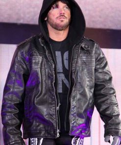 Black TNA AJ Styles Leather Jacket