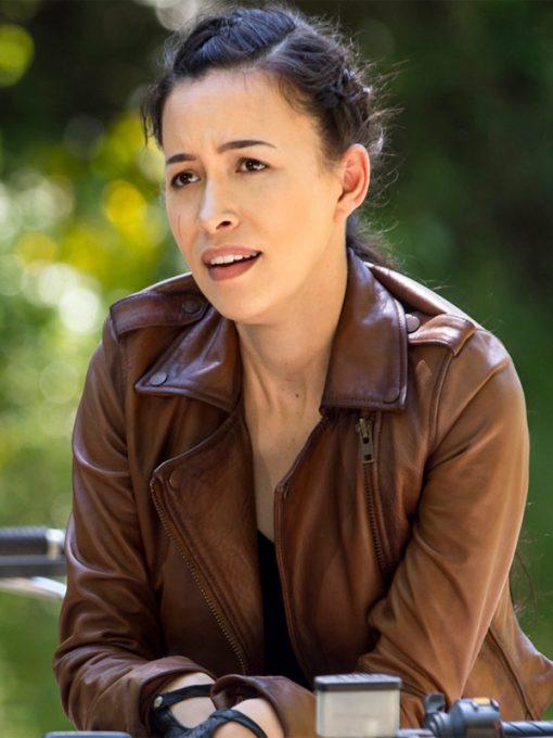 The Walking Dead Season 9 Rosita Espinosa Leather Jacket