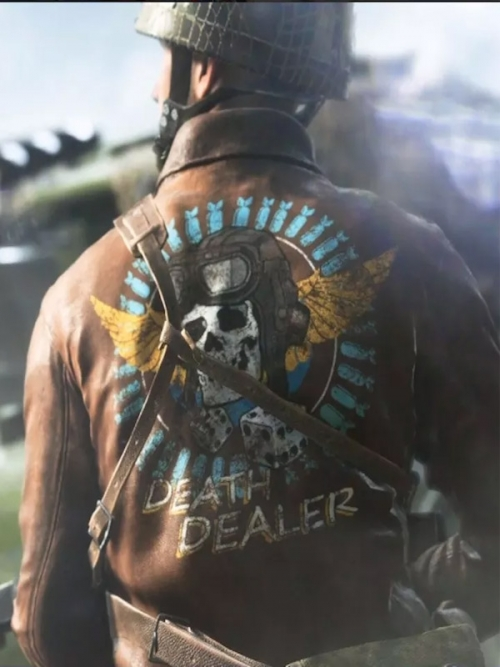 Battlefield 5 Death Dealer Brown Leather Jacket