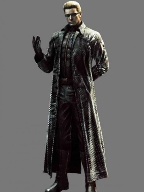 Resident Evil 5 Albert Wesker Black Leather Coat