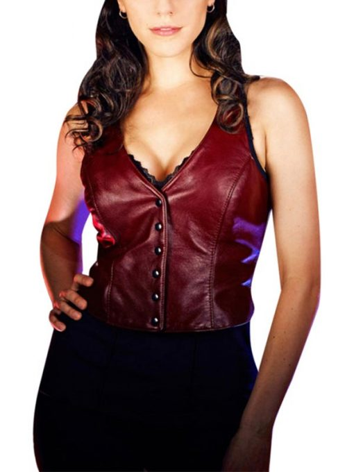 Lost Girl Anna Silk Leather Vest