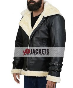 B3-Bomber-Shearling-Black-Hooded-Jacket