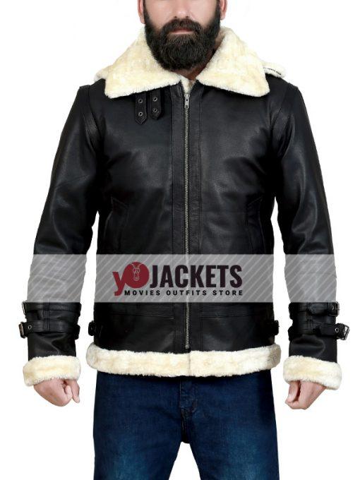B3-Bomber-Shearling-Hooded-Black-Jacket