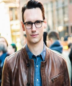 Cory-Michael-Smith-Brown-Jacket-from-TV-Series-Gotham