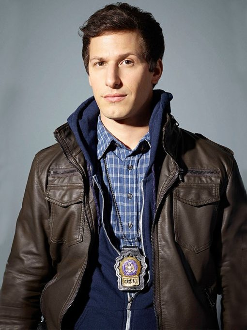 Jake-Peralta-Brooklyn-Nine-Nine-Brown-Jacket