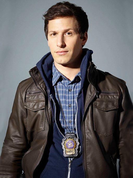 Jake-Peralta-Brooklyn-Nine-Nine-Brown-Jacket