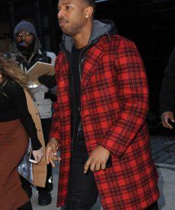 Michael-B.-Jordan-Red-Trench-Coat