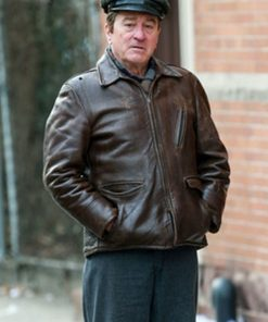 Robert-De-Niro-The-Irishman-Frank-Sheeran-Brown-Jacket