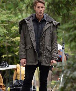 Justin Hartley The Noel Diary Gray Jacket