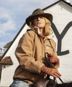 Beth Dutton Yellowstone Brown Bomber Jacket