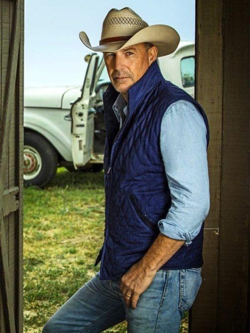 John Dutton Yellowstone Blue Cotton Vest