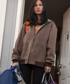 Kelsey Asbille Yellowstone Brown Bomber Jacket