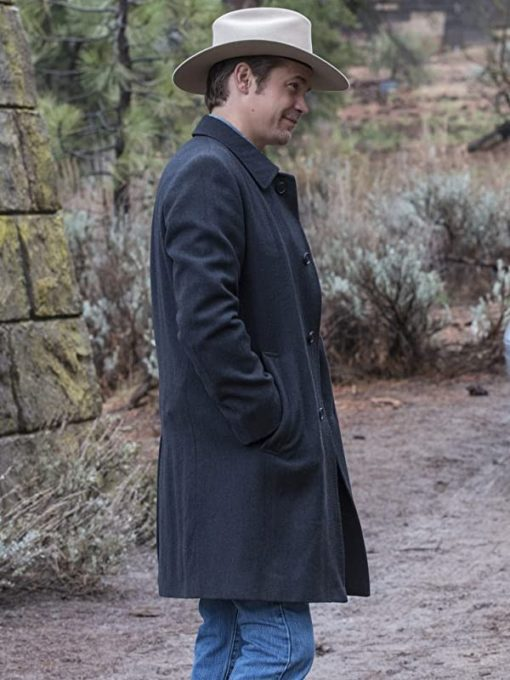 Raylan Givens Justified Black Trench Coat