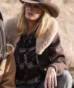 Beth Dutton Yellowstone Brown Shearling Coat