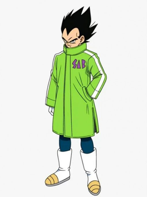 Dragon Ball Super Broly Vegeta Green Sab Green Leather Coat