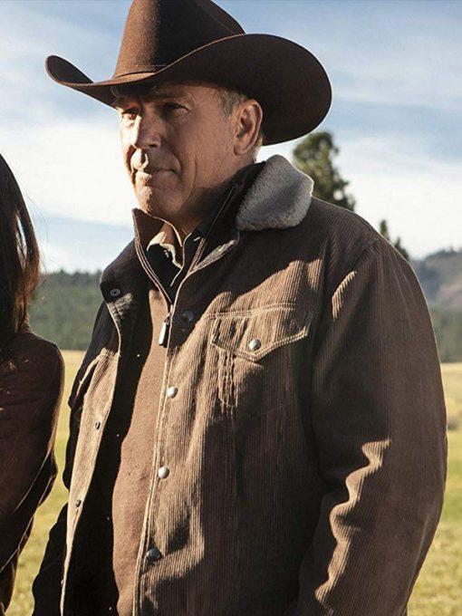 Kevin Costner Yellowstone Corduroy Jacket