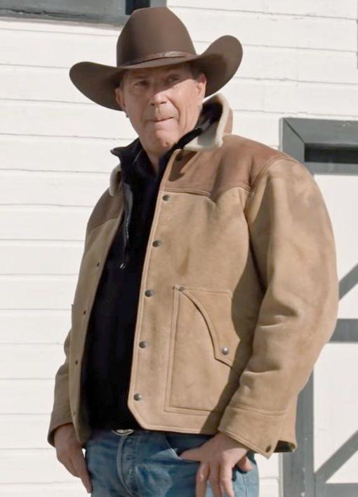 John Dutton Yellowstone Shearling Jacket