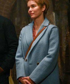A Million Little Things Maggie Bloom Blue Wool Coat