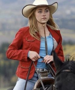 Amy Fleming Heartland Red Jacket