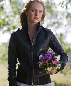 Amber Marshall Heartland Black Bomber Jacket
