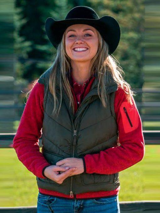 Amber Marshall Heartland Green Vest