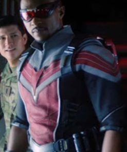 Sam Wilson The Falcon and the Winter Soldier Leather Jacket