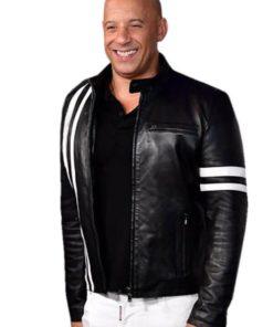 Ray Garrison Bloodshot Black Leather Jacket