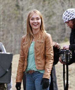 Amy Fleming Heartland Leather Jacket