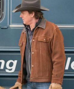 Chris Potter Heartland Brown Leather Jacket