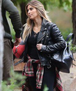 Kim KUWTK Black Leather Jacket