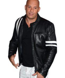 Vin Diesel Bloodshot Black Leather Jacket