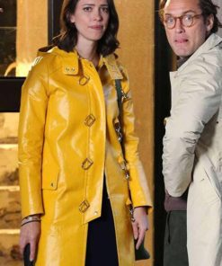 A Rainy Day in New York Connie Davidoff Yellow Coat