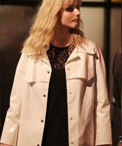 Last Night in Soho Eloise White Leather Coat