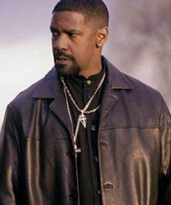 Denzel Washington Training Day Black Leather Jacket