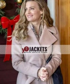 Brooke D'Orsay A Godwink Christmas Second Chance First Love Wool Trench Coat