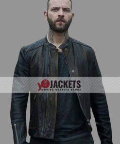 Alessandro Borghi Suburra Blood on Rome Aureliano Adami Leather Jacket