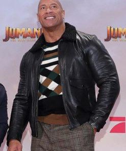 Dwayne Johnson Jumanji The Next Level Premier Black Leather Jacket