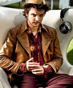 The Mad Hatter Alice 2019 Andrew-Lee Potts Miniseries Brown Leather Jacket
