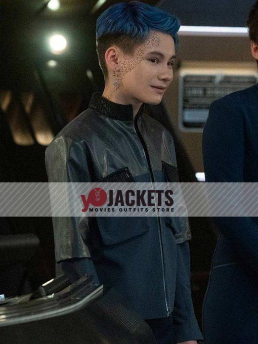 Star Trek Discovery Ian Alexander Gray Leather Jacket