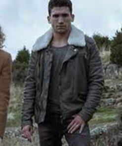 Denver Money Heist Jaime Lorente Leather Jacket