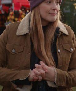 Alexandra Breckenridge Virgin River Season 03 Brown Shearling Jacket