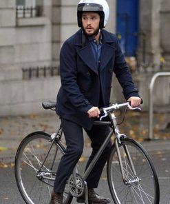 Kit Harington Modern Love Season 02 Blue Wool Peacoat