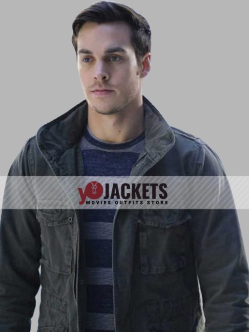 Mon-El Supergirl Chris Wood Gray Cotton Jacket