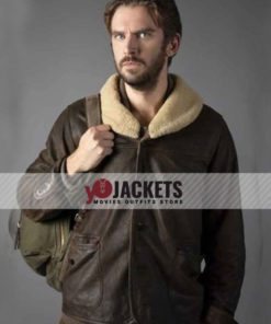 Dan Stevens Solos Otto Brown Shearling Leather Jacket