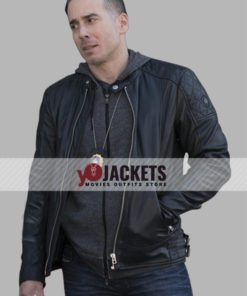 Law and Order Kirk Acevedo Black Slim Fit Leather Jacket