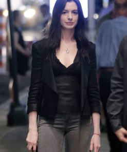 Anne Hathaway WeCrashed Black Leather Jacket