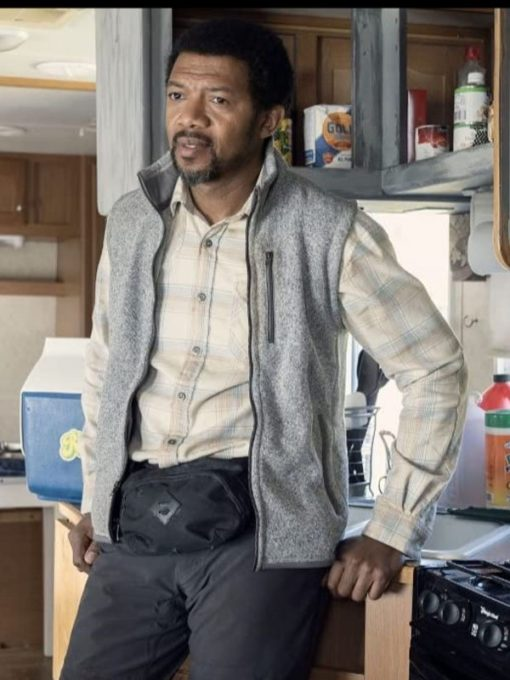 Miles Mussenden The Walking Dead Season 10 Franklin Grey Wool Vest